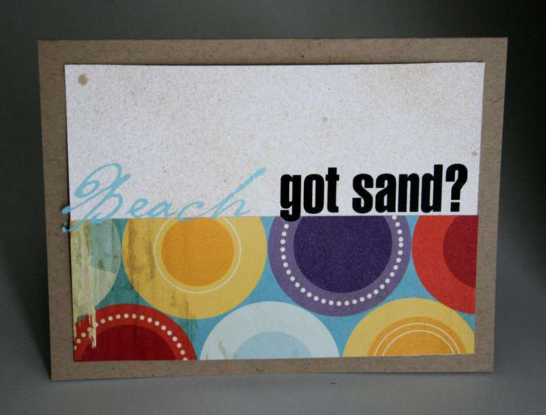 Got Sand Card? (Cosmo Snorkle)