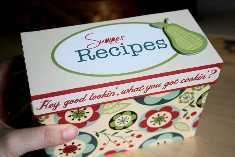 Summer Recipe box (Cosmo Cricket Early bird)