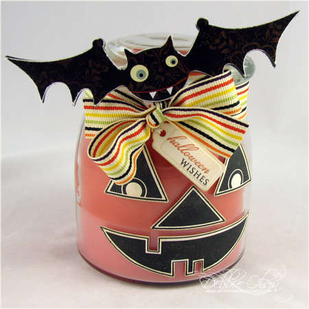 Batty Halloween Candle