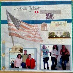 Weekend Getaway to Washington DC - Week 33/Project 52 and #35/68 Volume Scrapbooking