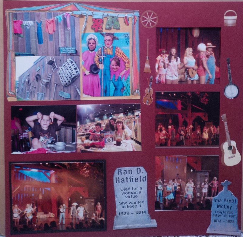 Hatfield/McCoy Dinner Show - Week 21/Project 52 and 21/68 Volume Scrapbooking