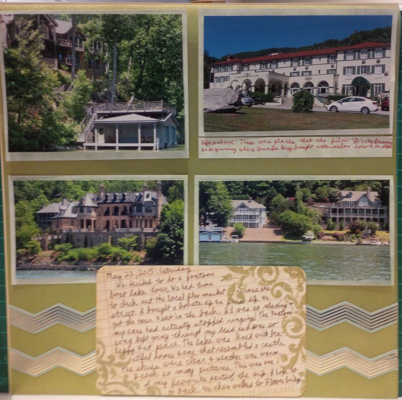 'Dirty Dancing' at Lake Lure Week 48/Project 52 and #50/68 Volume Scrapbooking
