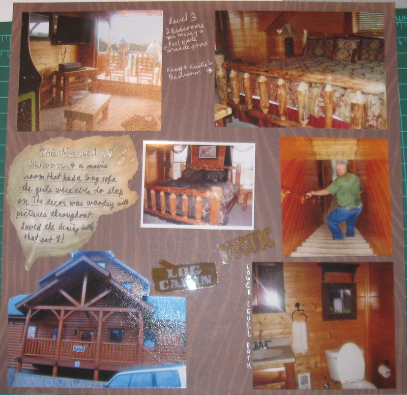 MountainTops and Movies Cabin Project 52: Week 27 and #27 of 68 Volume Scrapbooking