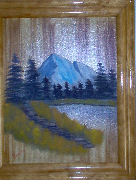 Woodgrain Mountains