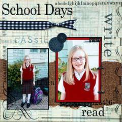 School Days - 1st day of 7th grade