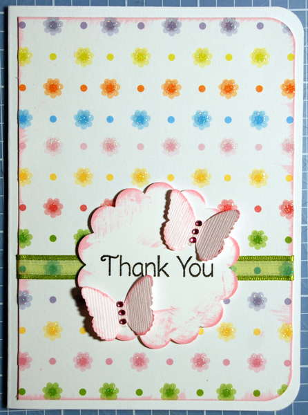 Thank You card for Cathy