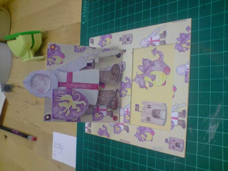 St George & Dragon tag card