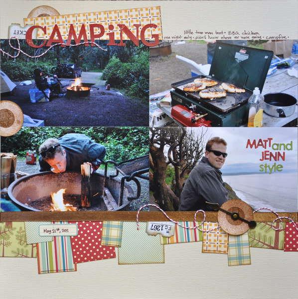 Camping Matt & Jenn style
