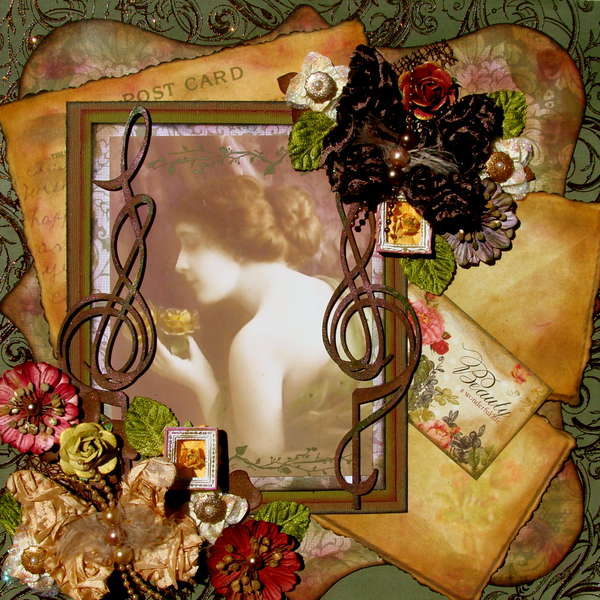 Vintage Flowers  ~~Scraps of Darkness~~