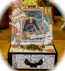 Steampunk Spells Easel Box Card