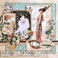 The Good Ole Days  ~~Scraps of Elegance~~  Sketch Challenge