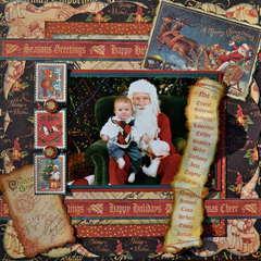 Ethan & Santa  ~~Graphic 45~~