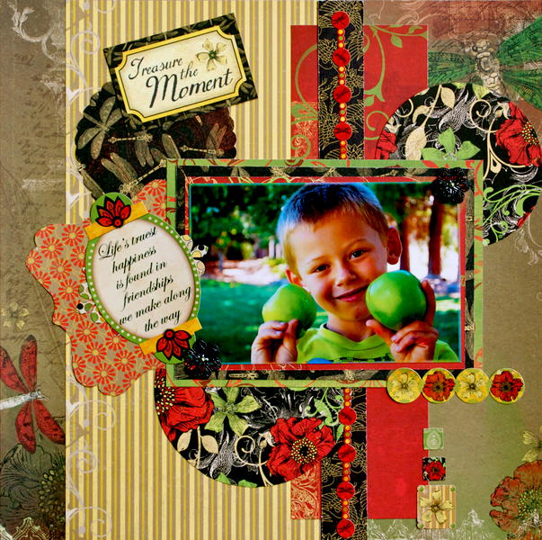 Treasure The Moment  ~~Scraps Of Darkness Reveal & Blog Hop~~
