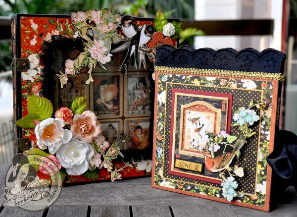 Altered Keepsake Box and Love Diorama Mini Album (closed)