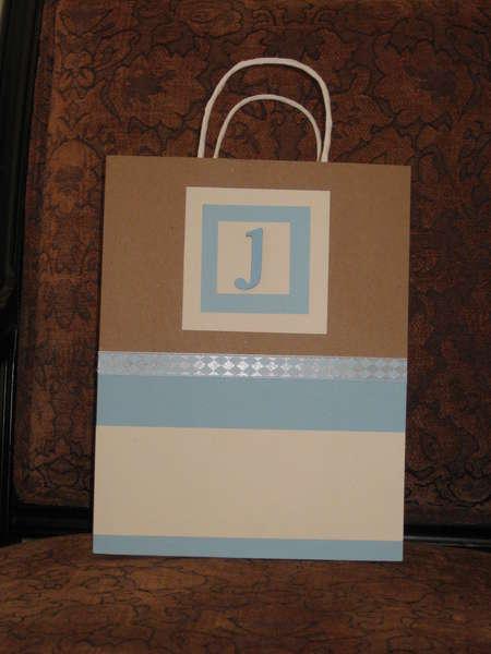 altered gift bag