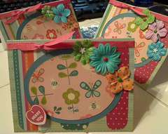 Trio of Girly cards