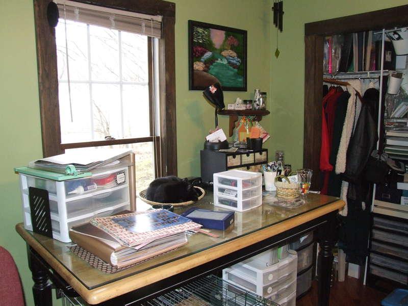 Desk/Closet Mess...before...