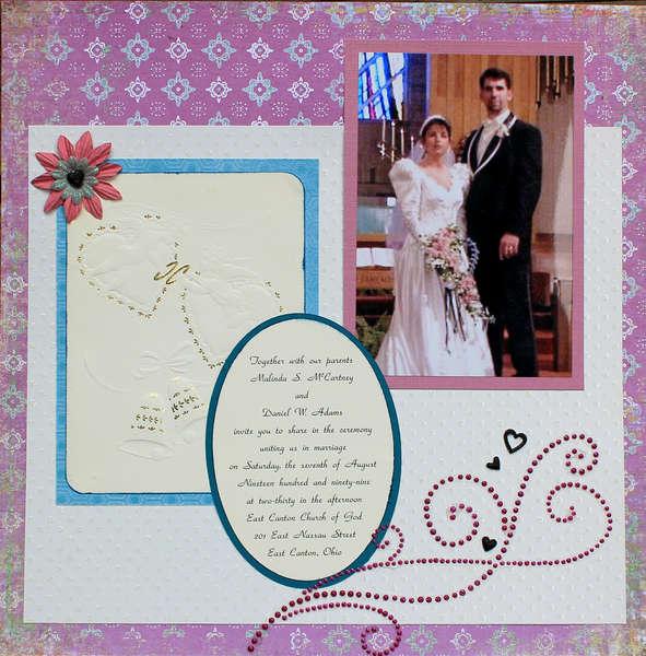 A wedding layout