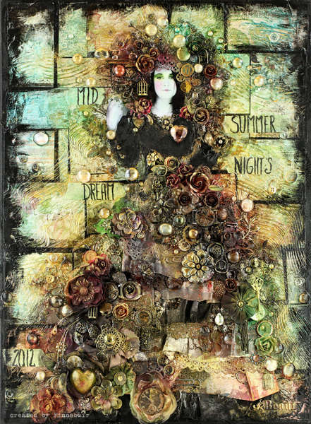 Midsummer Night's Dream - mixedmedia with *Prima*
