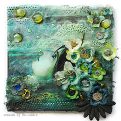 Ophelia - canvas mixedmedia layout