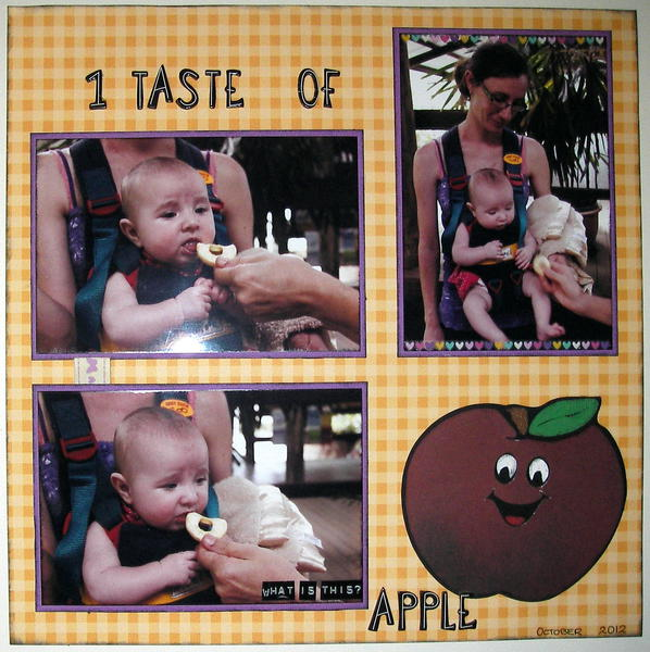1 taste of apple