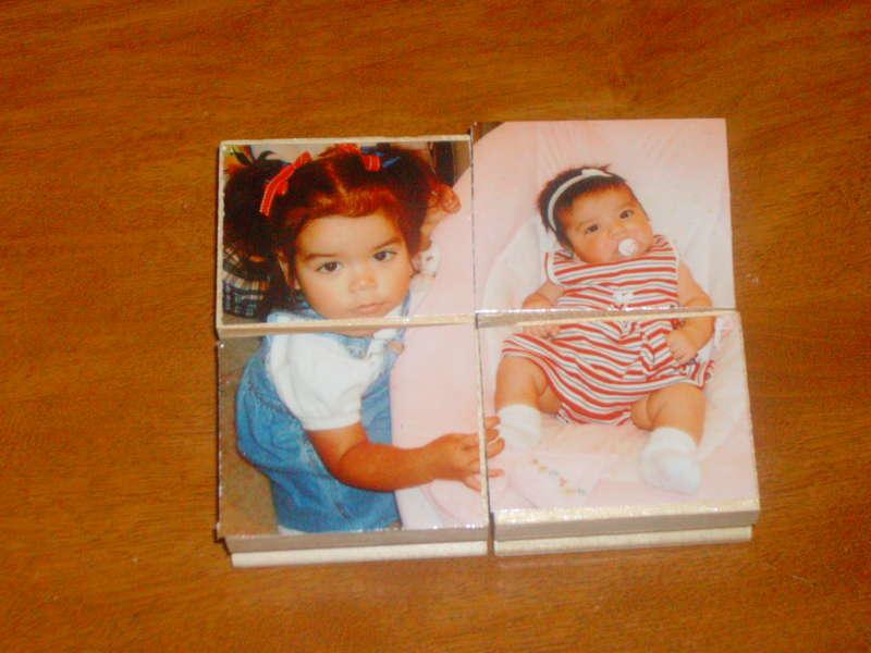Photo on wooden blocks