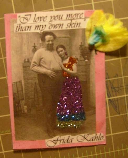 Frida Kahlo ATC card # 1