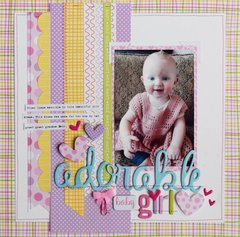 Adorable Girl Layout