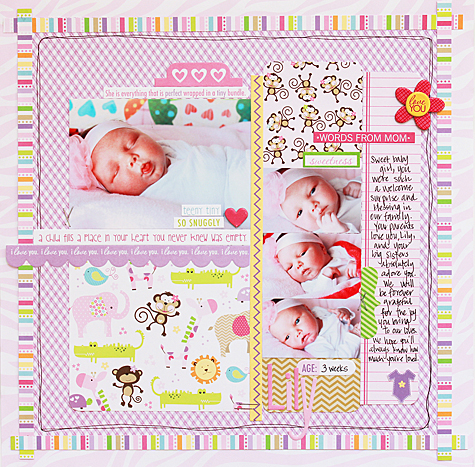 Baby Birl Lily by Becky Williams featuring Bella Blvd Baby Collection