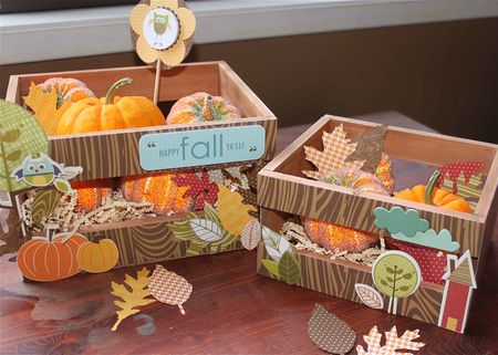 Finally Fall Altered Wooden Crates by Jennifer Edwardson