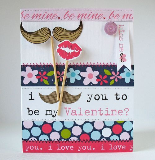 Mustache Love by Kathy Martin featuring Kiss Me from Bella Blvd