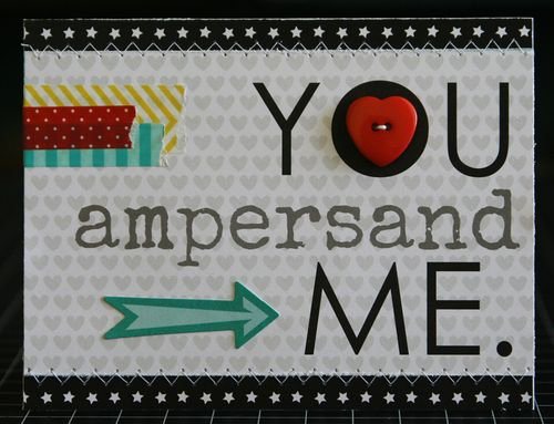 """You Ampersand Me"" card, by Laura Vegas."