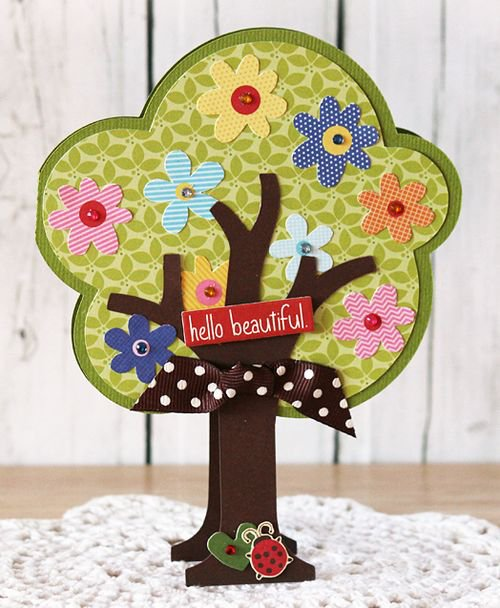 """Beautiful Life"" tree card, by Laurie Schmidlin."