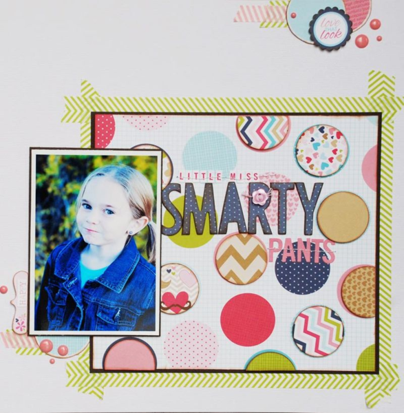Little Miss Smarty Pants by Becki Adams featuring Kiss Me from Bella Blvd