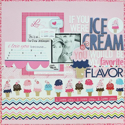 If You Were Ice Cream by Megan Klauer featuring Kiss Me from Bella Blvd