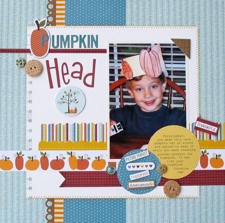 Pumpkin Head by Kathy Martin