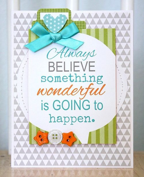 """Always Believe"" card, by Shellye McDaniel."