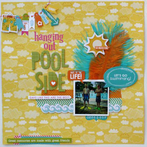 Hanging by the Pool side by Sheri Feypel featuring Surf & Sand from Bella Blvd