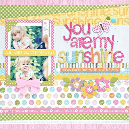 You Are My Sunshine by Bella Blvd DT Member Steph Buice featuring Simply Spring