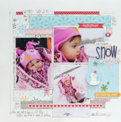 December Snow Play by Megan Klauer featuring Bella Blvd Winter Wonder