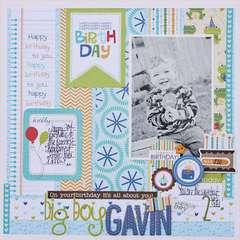 Big Boy Gavin by Megan Klauer featuring the Birthday Boy Collection from Bella Blvd