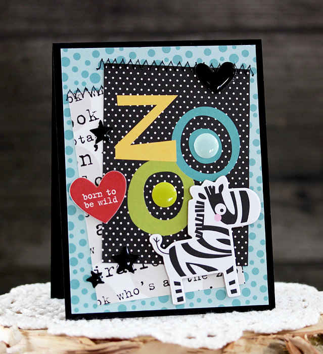 Zoo Crew Zebra Card