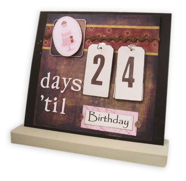 Days 'til Birthday - Interchangeable Magnet Board