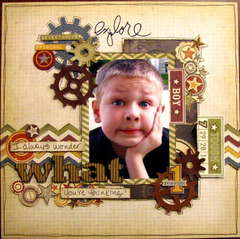 what - Boys Rule Scrapbook Kits