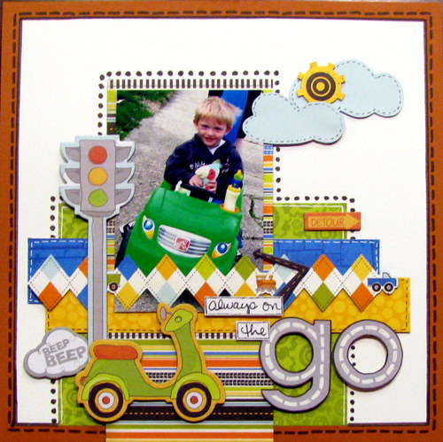 always on the go - Boys Rule Scrapbook Kits