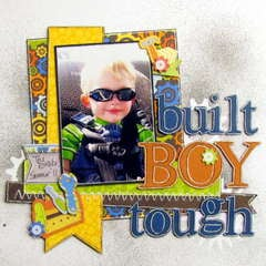 built boy tough - Boys Rule Scrapbook Kits