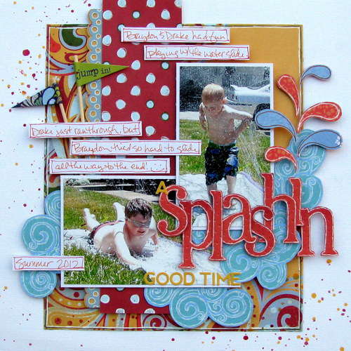 a splashin good time - Boys Rule Scrapbook kits