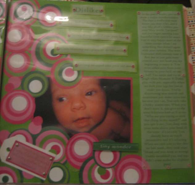 Kynzie at One Month Old