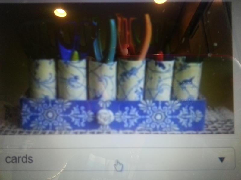 storage using toilet paper rolls