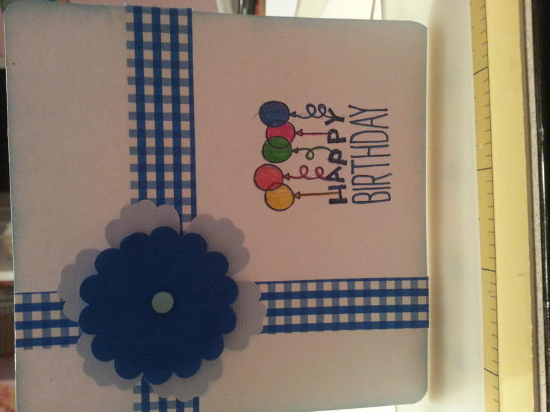 Bday card to match bag mum made